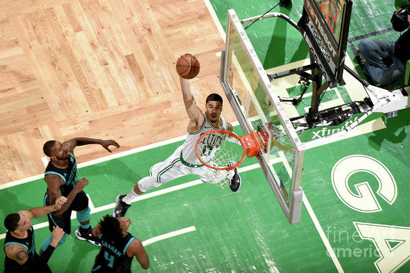 Nba Pro Basketball Art Print featuring the photograph Jayson Tatum by Brian Babineau