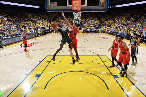 Game Two Art Print featuring the photograph Jordan Bell by Andrew D. Bernstein