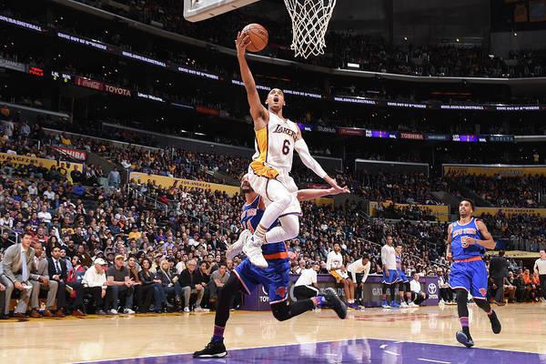 Nba Pro Basketball Art Print featuring the photograph Jordan Clarkson by Andrew D. Bernstein