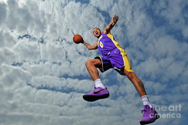 Nba Pro Basketball Art Print featuring the photograph Kyle Kuzma by Jesse D. Garrabrant