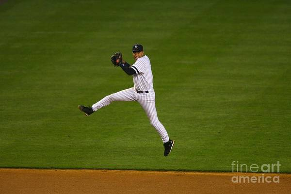 People Art Print featuring the photograph Derek Jeter by Al Bello