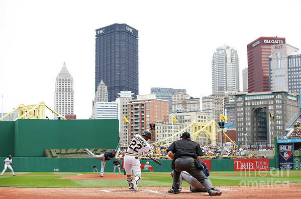 American League Baseball Art Print featuring the photograph Andrew Mccutchen by Jared Wickerham