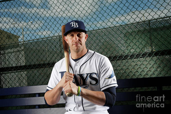 Media Day Art Print featuring the photograph Evan Longoria by Brian Blanco