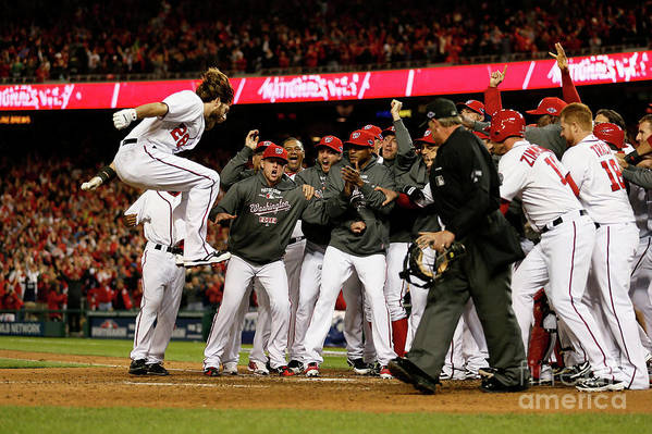 Playoffs Art Print featuring the photograph Jayson Werth by Rob Carr