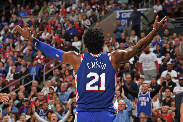 Crowd Art Print featuring the photograph Joel Embiid by David Dow