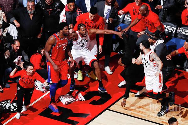 Playoffs Art Print featuring the photograph Kawhi Leonard by Mark Blinch