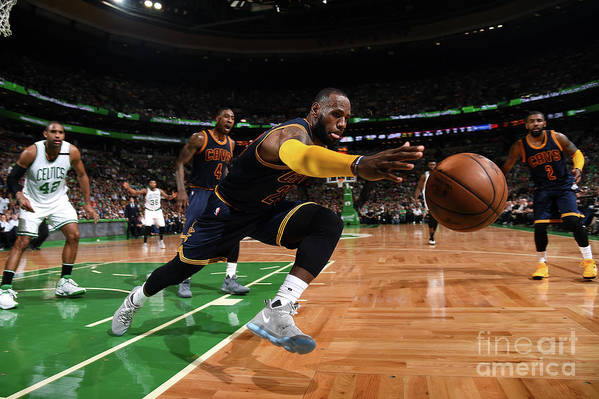 Playoffs Art Print featuring the photograph Lebron James by Brian Babineau