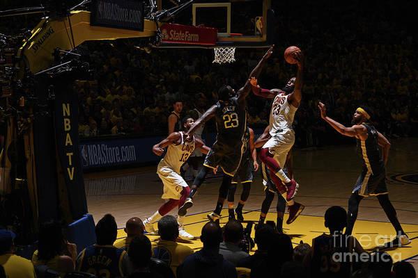 Playoffs Art Print featuring the photograph Lebron James by Garrett Ellwood