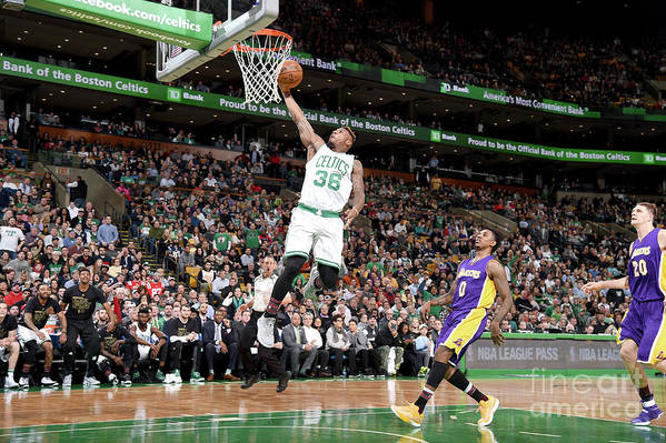 Nba Pro Basketball Art Print featuring the photograph Marcus Smart by Brian Babineau