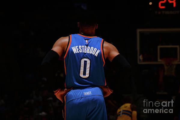 Nba Pro Basketball Art Print featuring the photograph Russell Westbrook by Bart Young