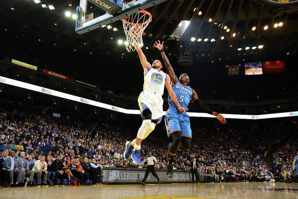Nba Pro Basketball Art Print featuring the photograph Stephen Curry by Noah Graham