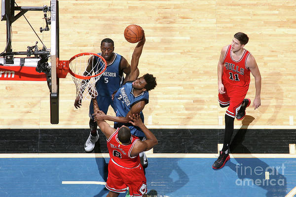 Nba Pro Basketball Art Print featuring the photograph Andrew Wiggins by David Sherman