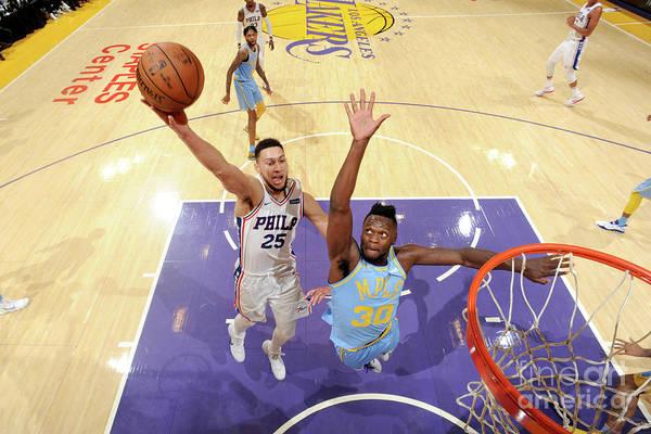Nba Pro Basketball Art Print featuring the photograph Ben Simmons by Andrew D. Bernstein