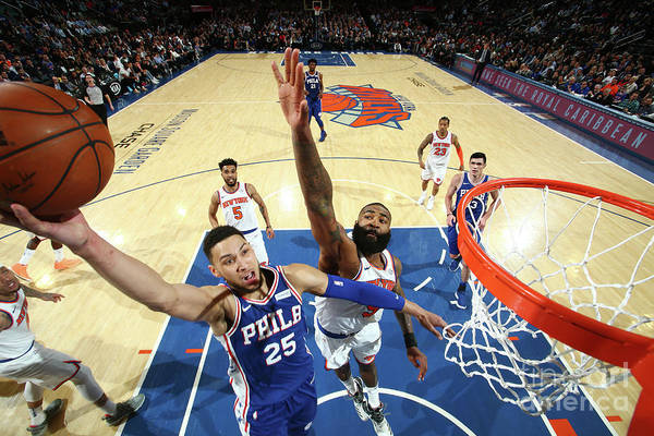 Sports Ball Art Print featuring the photograph Ben Simmons by Nathaniel S. Butler