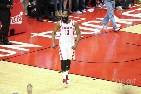 Playoffs Art Print featuring the photograph James Harden by Nathaniel S. Butler