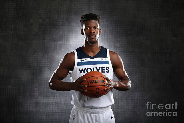 Media Day Art Print featuring the photograph Jimmy Butler by David Sherman