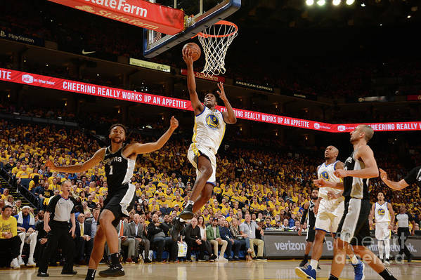 Playoffs Art Print featuring the photograph Kevon Looney by Noah Graham