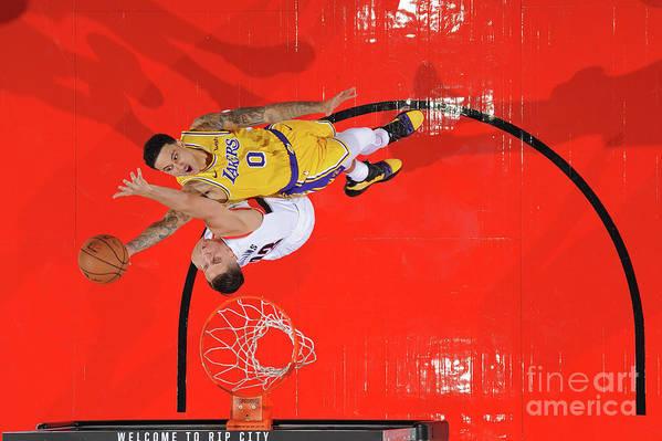 Nba Pro Basketball Art Print featuring the photograph Kyle Kuzma by Andrew D. Bernstein