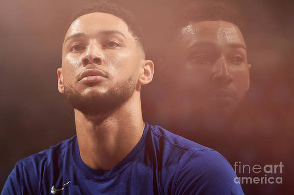 Playoffs Art Print featuring the photograph Ben Simmons by David Dow