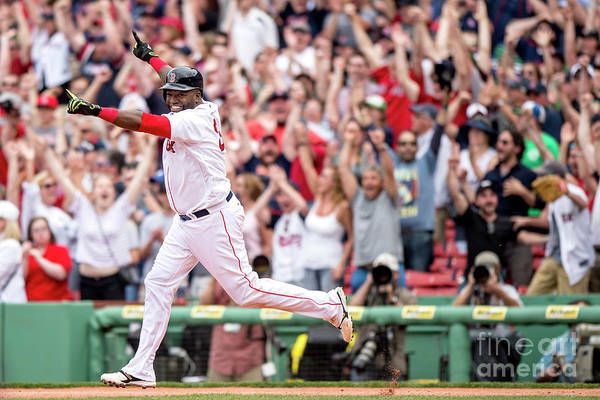 People Art Print featuring the photograph David Ortiz by Billie Weiss/boston Red Sox