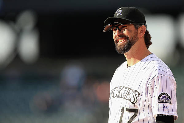 Todd Helton Art Print featuring the photograph Todd Helton by Doug Pensinger