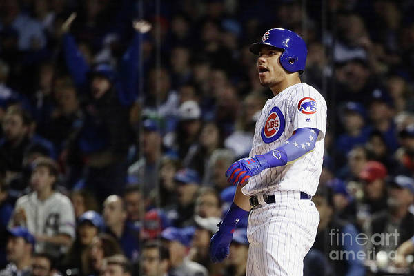 Second Inning Art Print featuring the photograph Willson Contreras by Jonathan Daniel