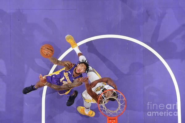 Nba Pro Basketball Art Print featuring the photograph Brandon Ingram by Andrew D. Bernstein