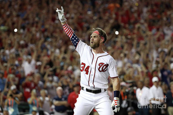 Three Quarter Length Art Print featuring the photograph Bryce Harper by Patrick Smith
