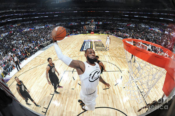 Nba Pro Basketball Art Print featuring the photograph Lebron James by Andrew D. Bernstein