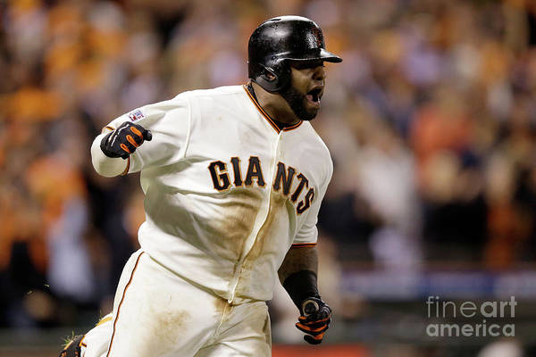 Playoffs Art Print featuring the photograph Pablo Sandoval by Ezra Shaw