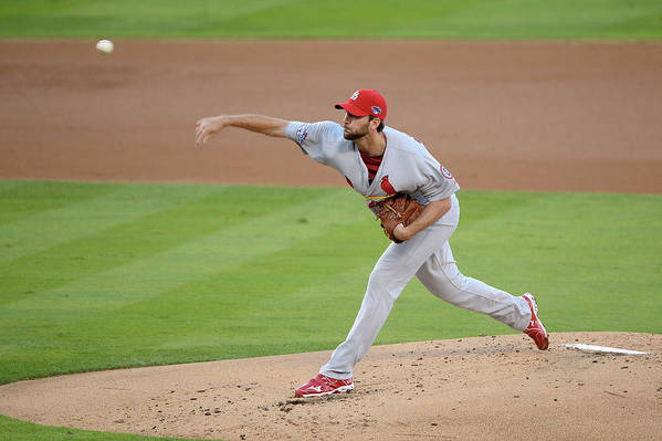 St. Louis Cardinals Art Print featuring the photograph Adam Wainwright by Harry How