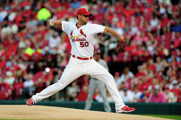 St. Louis Cardinals Art Print featuring the photograph Adam Wainwright by Jeff Curry