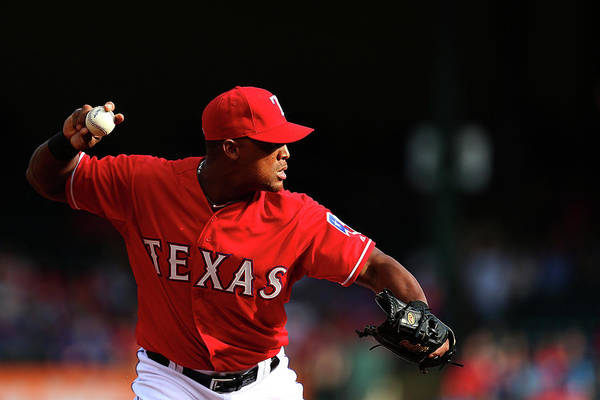 Adrian Beltre Art Print featuring the photograph Adrian Beltre by Sarah Crabill