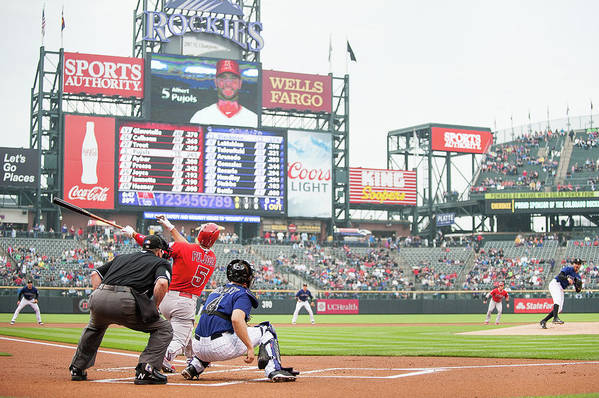 People Art Print featuring the photograph Albert Pujols and Chad Bettis by Dustin Bradford
