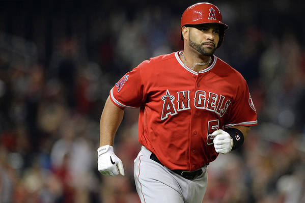 American League Baseball Art Print featuring the photograph Albert Pujols by Patrick Smith
