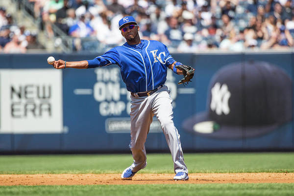 American League Baseball Art Print featuring the photograph Alcides Escobar by Anthony Causi