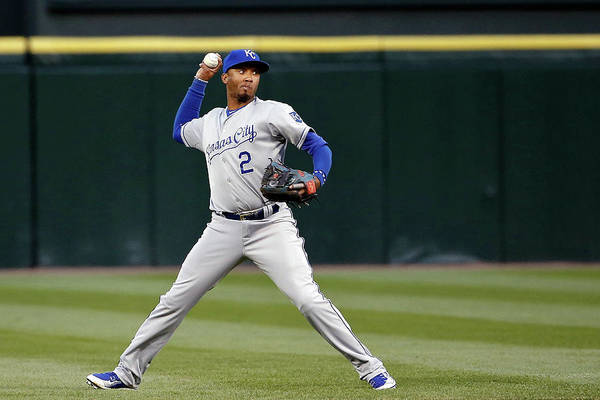 Second Inning Art Print featuring the photograph Alcides Escobar by Jon Durr