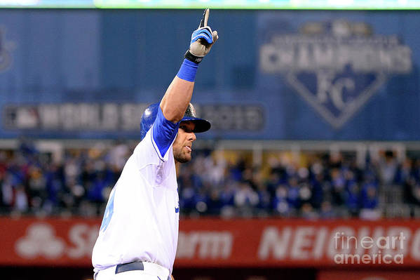 Playoffs Art Print featuring the photograph Alex Gordon by Ron Vesely