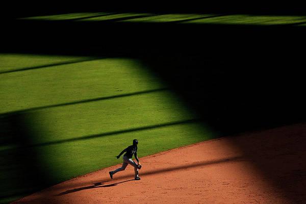 American League Baseball Art Print featuring the photograph Alexei Ramirez by Tom Pennington