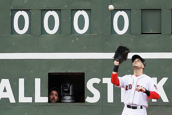 People Art Print featuring the photograph Andrew Benintendi and Josh Donaldson by Maddie Meyer