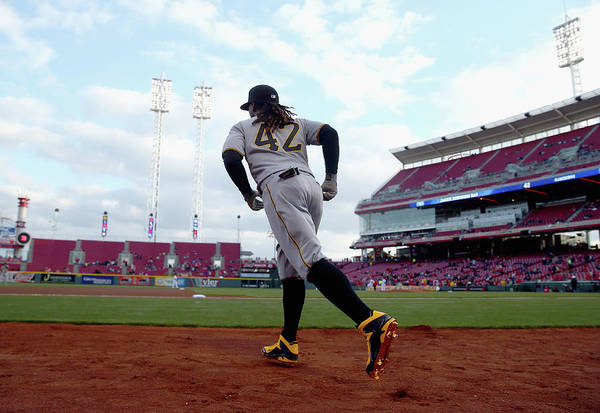 Great American Ball Park Art Print featuring the photograph Andrew Mccutchen by Andy Lyons