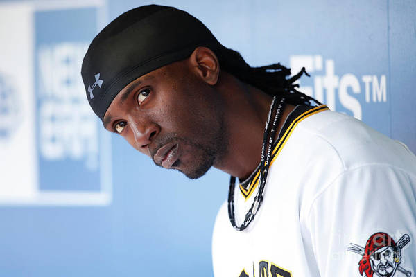 Pnc Park Art Print featuring the photograph Andrew Mccutchen by Joe Robbins