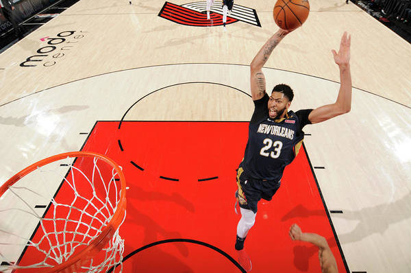 Playoffs Art Print featuring the photograph Anthony Davis by Cameron Browne