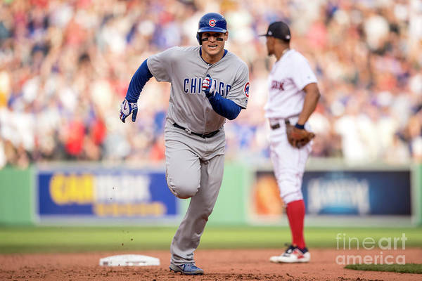 People Art Print featuring the photograph Anthony Rizzo by Billie Weiss/boston Red Sox