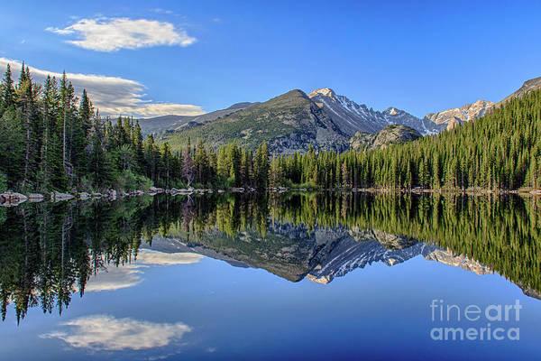 Colorado Art Print featuring the photograph Bear Lake Reflection by Jennifer Ludlum
