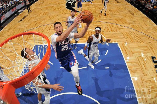 Nba Pro Basketball Art Print featuring the photograph Ben Simmons by Fernando Medina