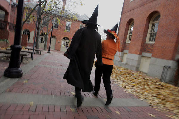 Salem Art Print featuring the photograph Bewitching Attractions Draw Visitors To Salem by Joe Raedle