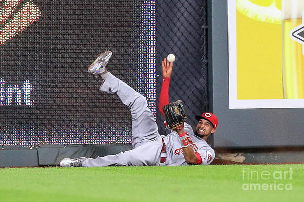 Ninth Inning Art Print featuring the photograph Billy Hamilton by Brian Davidson