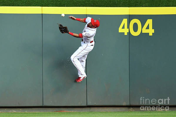 Great American Ball Park Art Print featuring the photograph Billy Hamilton by Jamie Sabau