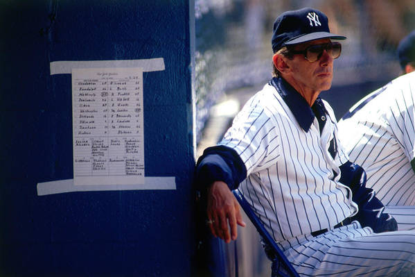 1980-1989 Art Print featuring the photograph Billy Martin by Ronald C. Modra/sports Imagery